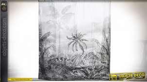 RIDEAU POLYESTER 180X200 0,36 PALMS GRIS