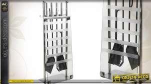 Valet de cheminée design avec 4 accessoires