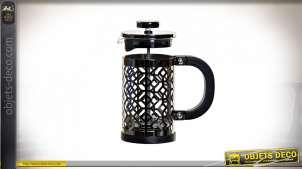 CAFETIERE INOX 13X7,5X16 350ML NOIR