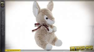 PELUCHE POLYESTER 20X24X37 LAPIN