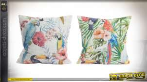 COUSSIN POLYESTER 45X45 PERROQUETS 2 MOD.