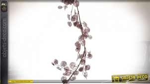 Branche d'arburtre en métal et PVC, finition rose poudré et métallisé, 140cm