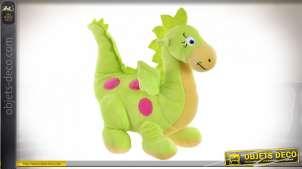 Peluche dragon vert extra-doux 33 cm