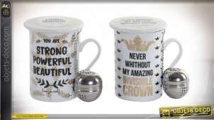 MUG INFUSIONS PORCELAINE 10,5X8X11 280 ML. CHIC 2