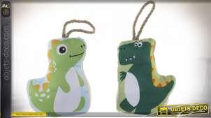 Duo de bloque-porte en tissus, en forme de dinosaure enfantin, 22cm