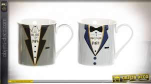 MUG PORCELAINE 12X8,5X8,5 320 ML. COSTUME 2 MOD.
