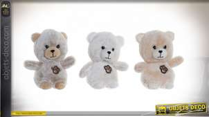PELUCHE POLYESTER 15X10X18 OURS 3 MOD.