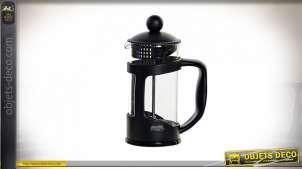 CAFETIERE PVC BOROSILICATE 12X7,7X17 350ML NOIR