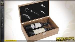 Coffret à bouteilles de vin + 5 accessoires