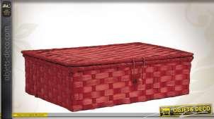 Coffret en bambou teinté rouge