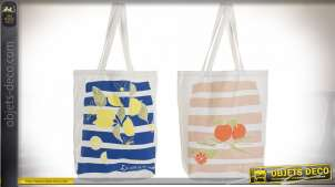 SAC CANEVAS 43X15X65 FRUITS 2 MOD.