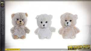 PELUCHE POLYESTER 12X8X14 OURS 3 MOD.