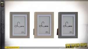 Série de trois cadres photos finition grise et beige de style moderne, couleurs douces et tendances 10x15