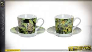 TASSE KIT ASSIETTE PORCELAINE 9X7X6 80 ML. JUNGLE