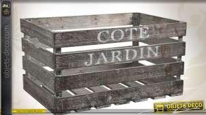 Caisse en bois style rétro et vieilli Produits de la ferme
