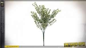 Branche de buisson décoratif finition vert, en PVC, 36cm