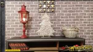 Sapin de Noël en bois et en osier 52 cm