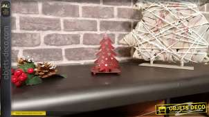 Photophore sapin de Noël en métal