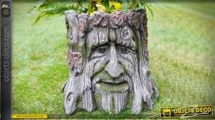 Jardinière souche d'arbre esprit contes et magie Ø 28 cm