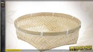 Corbeille ronde en bambou naturel Ø 23 cm