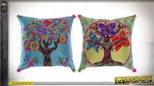 COUSSIN POLYESTER 40X40 425 GR. ARBRE 2 MOD.