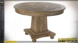 TABLE PIN 120X120X78 VIEILLI NATUREL