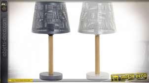 LAMPE DE TABLE MÉTAL BOIS 19,5X19,5X40 2 MOD.