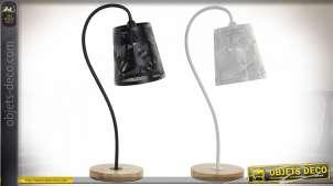 LAMPE DE TABLE MÉTAL BOIS 22X14X47 2 MOD.