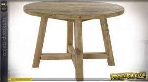 TABLE PIN 120X120X76 VIEILLI NATUREL