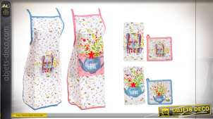 TABLIER SET 3 COTON 60X80 COOK WITH LOVE