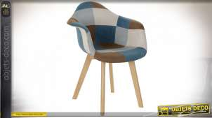 FAUTEUIL POLYESTER HETRE 63X60X83 PATCHWORK