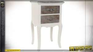 TABLE DE CHEVET BOIS 41X33X70 BEIGE