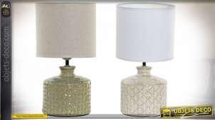 LAMPE DE TABLE GRÈS LIN 18X18X33 2 MOD.