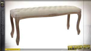 BANQUETTE POLYESTER RUBBERWOOD 110X37X48 NATUREL