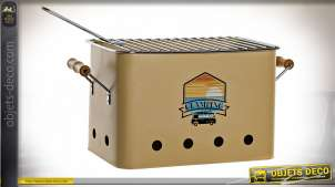 BARBECUE MÉTAL 49X22X28,5 MOUTARDE