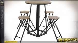 TABLE AUXILIAIRE SET 4 SAPIN MÉTAL 175X175X102