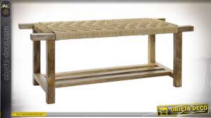 BANQUETTE MANGUE CORDE 127X41X48 NATUREL