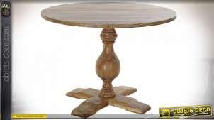 TABLE ACACIA 105X105X76 NATUREL