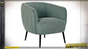 FAUTEUIL POLYESTER MÉTAL 77X80X74 TURQUOISE