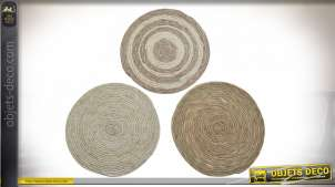 SET DE TABLE FIBRE SEAGRASS 35X35X1 3 MOD.