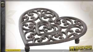 Dessous de plat en fonte forme coeur