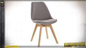 CHAISE POLYESTER BOIS 48X55X83 REMBOURRAGE