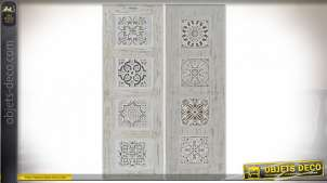TABLEAU TOILE PIN 30X3X90 CARRELAGE RELIEF 2 MOD.