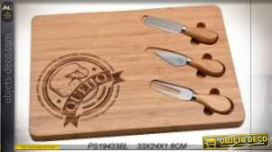 PLANCHE BAMBOU 33X24X1,8 FROMAGES NATUREL