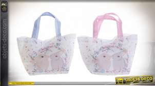 SAC TOILE POLYESTER 34X14X32 LAPINS 2 MOD.