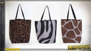 SAC POLYESTER 43X15X66 ANIMAL PRINT 3 MOD.