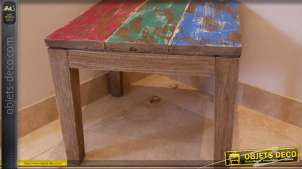 Table basse style brocante multicouleur