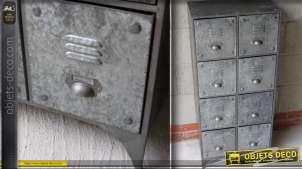Meuble de style industriel à 8 tiroirs