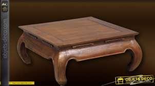 Table basse design en teck Chandoo 80 x 80 cm