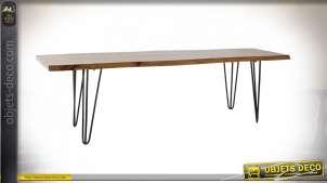 TABLE BASSE ACACIA MÉTAL 160X40X45 NATUREL